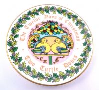 Vintage Coalport Bone China Twelve Days Of Christmas Plate  Two Turtle Doves.